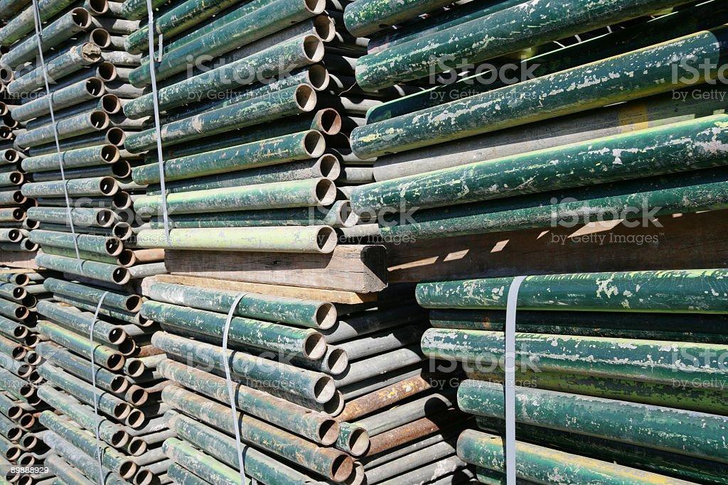 Metal Poles royalty-free stock photo