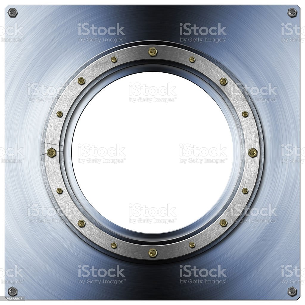 Metal Porthole stock photo