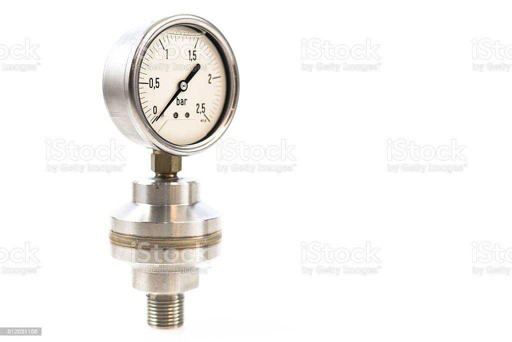 Metal pressure Gauge stock photo