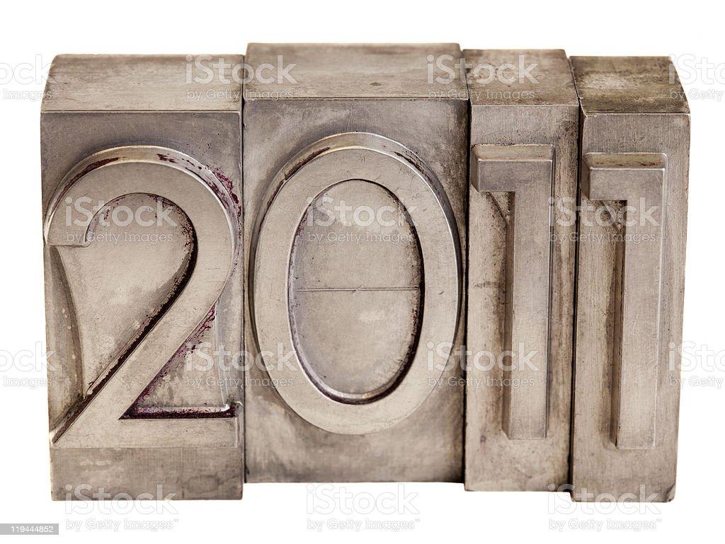 2011 - metal printing blocks royalty-free stock photo