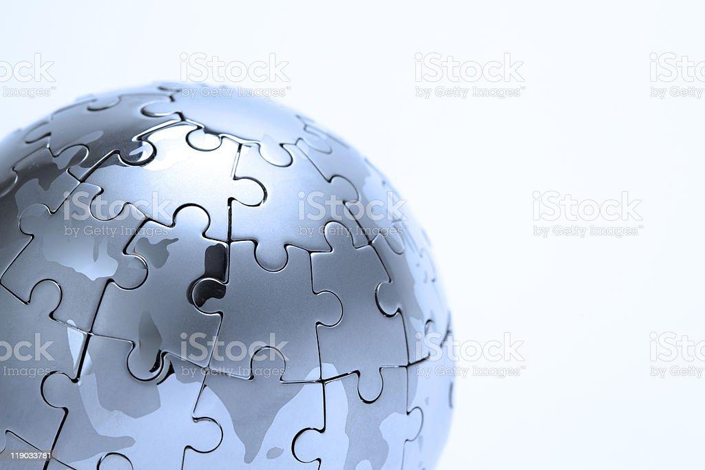 puzzle Globus aus Metall - Lizenzfrei Farbbild Stock-Foto