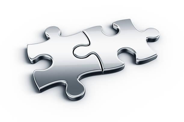 puzzle Stücke aus Metall – Foto