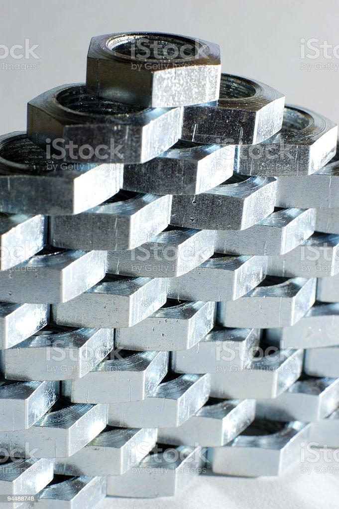 Metal pyramid royalty-free stock photo