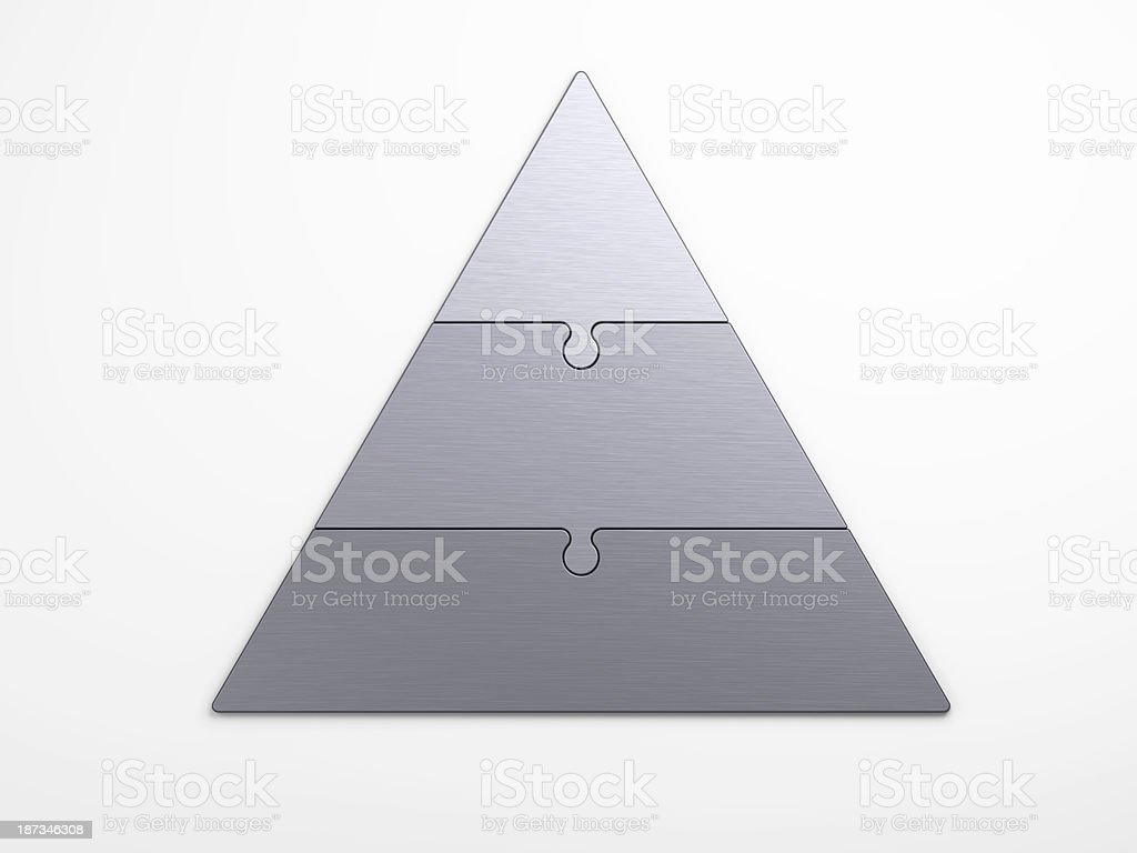 metal pyramidal hierarchy with clipping path stock photo