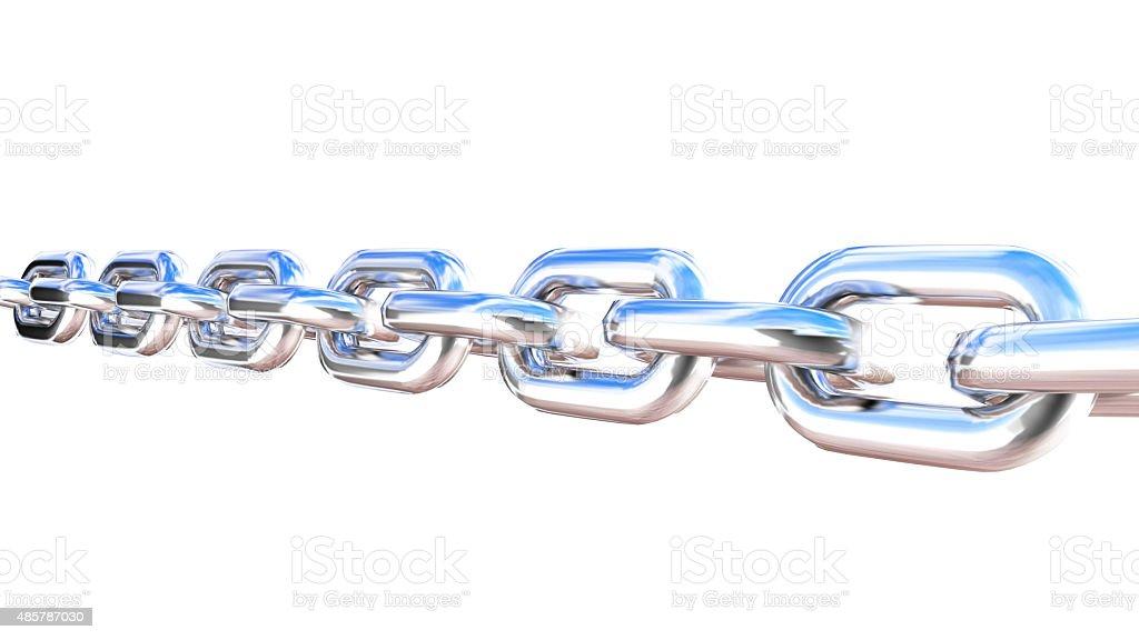 Metal realistic chain stock photo