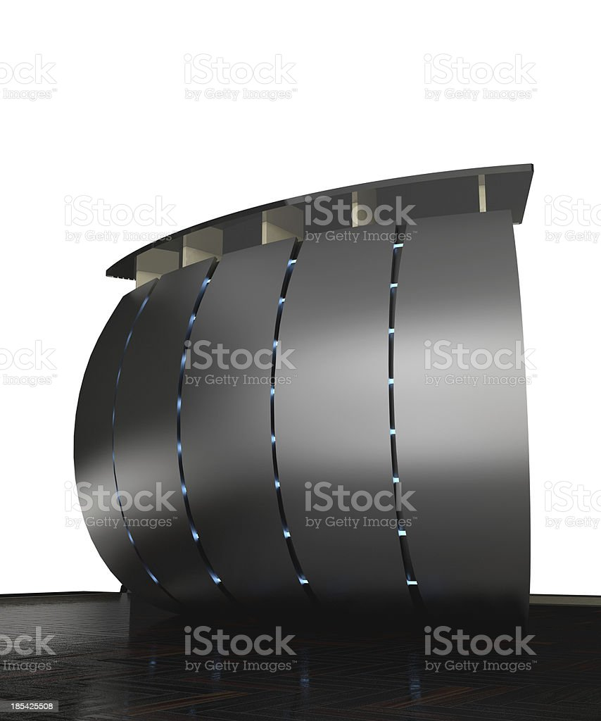 metal reception counter royalty-free stock photo