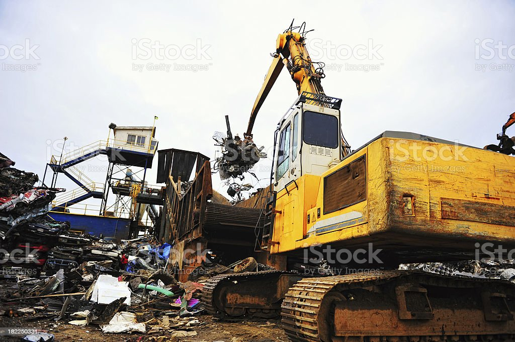 Metal Recycling Facility royalty-free stock photo