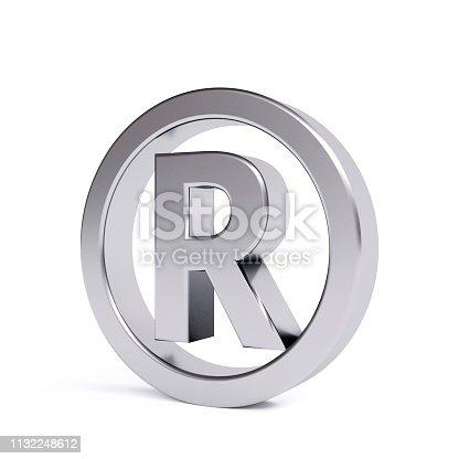 istock Metal registered trademark 1132248612