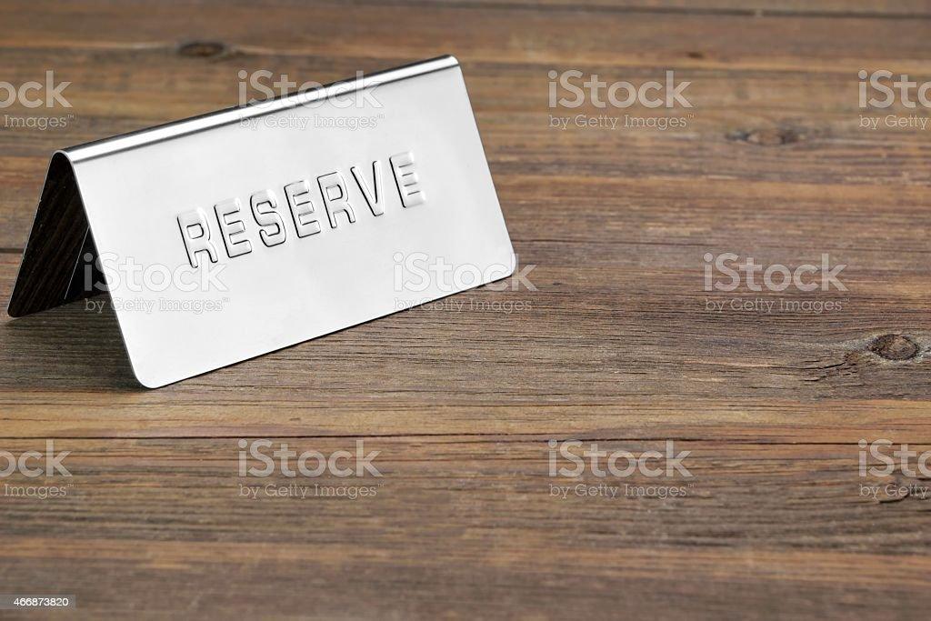Metal Reserve Signboard stock photo