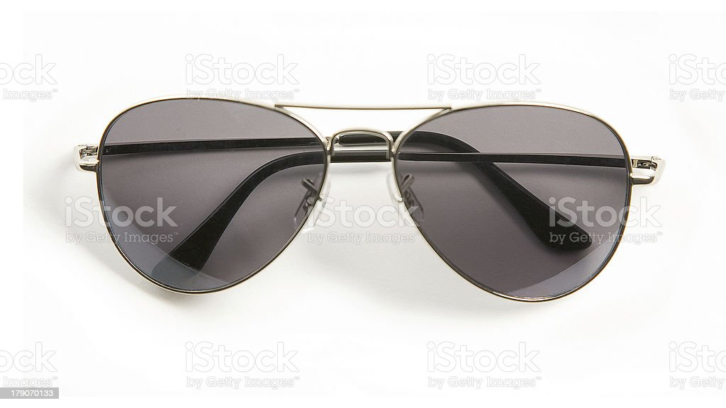 Metal rimmed sunglasses stock photo