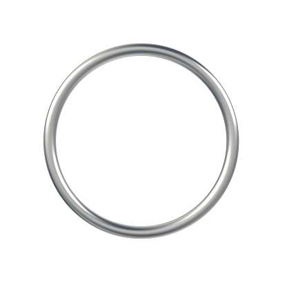 istock Metal ring isolated on white background. 1184264524