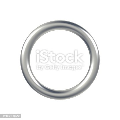 1094574474 istock photo Metal ring isolated on white background. 1206325658