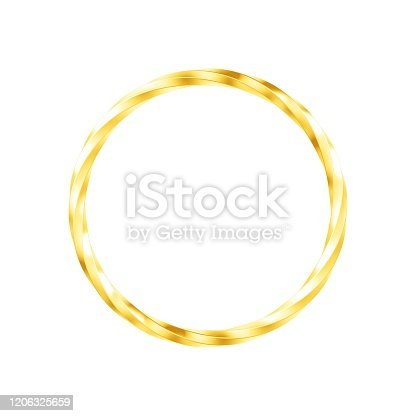 1094574474 istock photo Metal ring isolated on white background. 1206325659