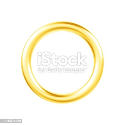 1094574474 istock photo Metal ring isolated on white background. 1206325758