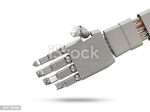 istock Metal Robotic Hand with place for the other Hand 534799485