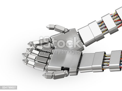 istock Metal Robotic Hands with the Palms Up 534799501