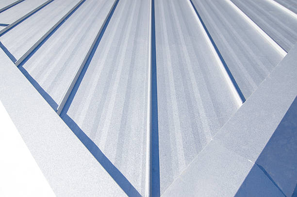 metal roof - seam stock photos and pictures