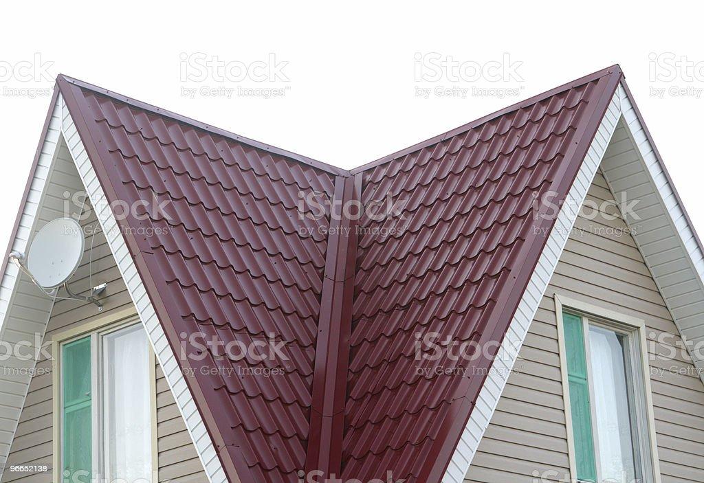 metal roof stock photo