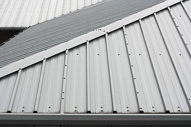 a metal roof that has a small slant to it  - 鋅 個照片及圖片檔