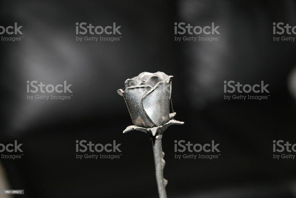 Metal rose stock photo