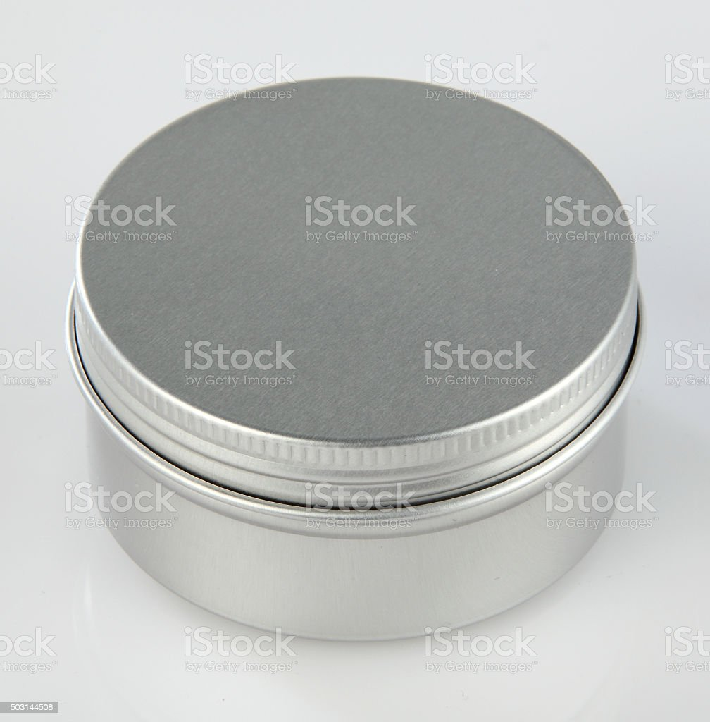 Metal Round Can stock photo
