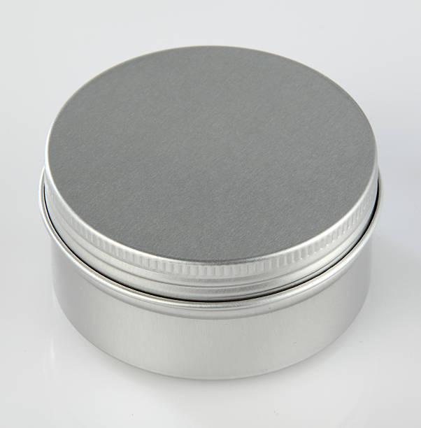 metall runde können - aluminiumkiste stock-fotos und bilder