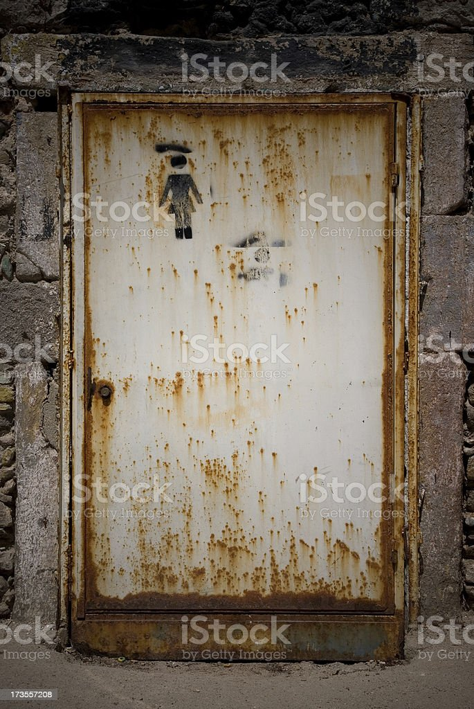 Metal rusty door royalty-free stock photo