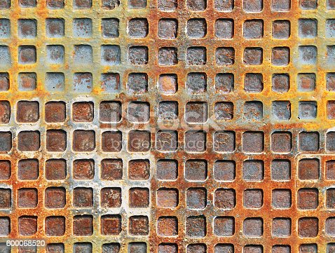 Seamless grunge texture. Metal rusty surface with a square shape.