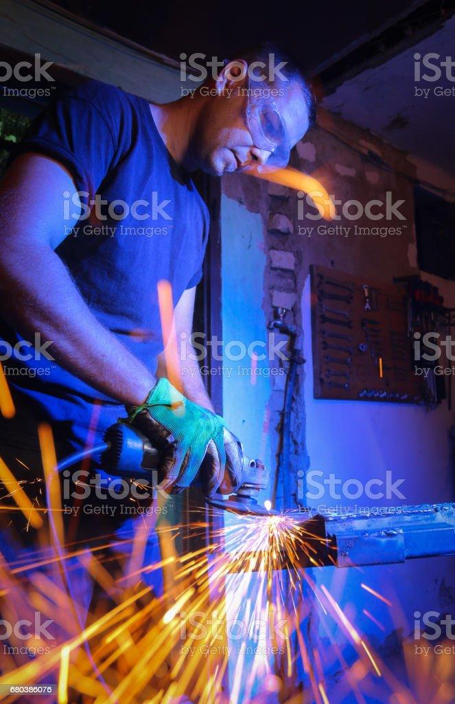 metal sawing close up royalty-free stock photo