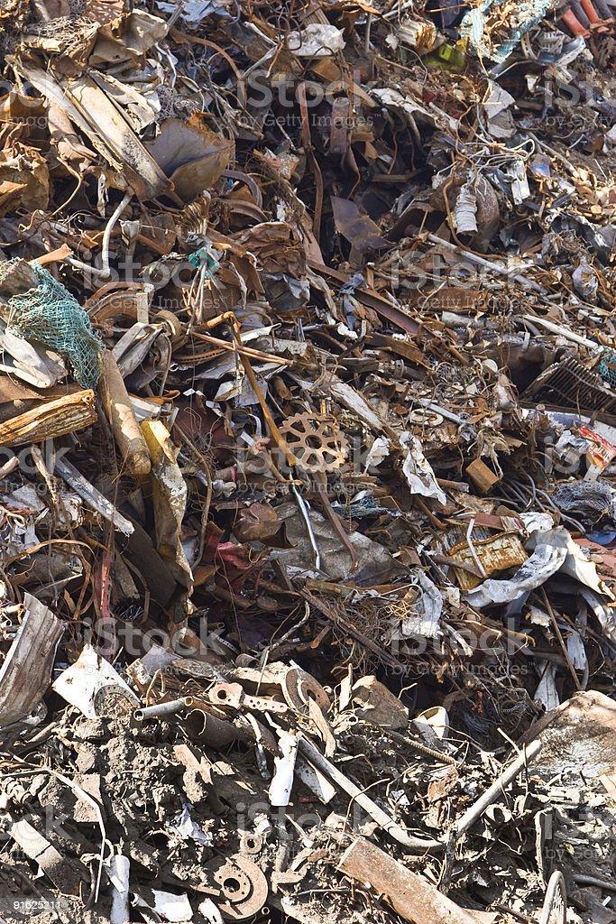 Metal scrap royalty-free stock photo