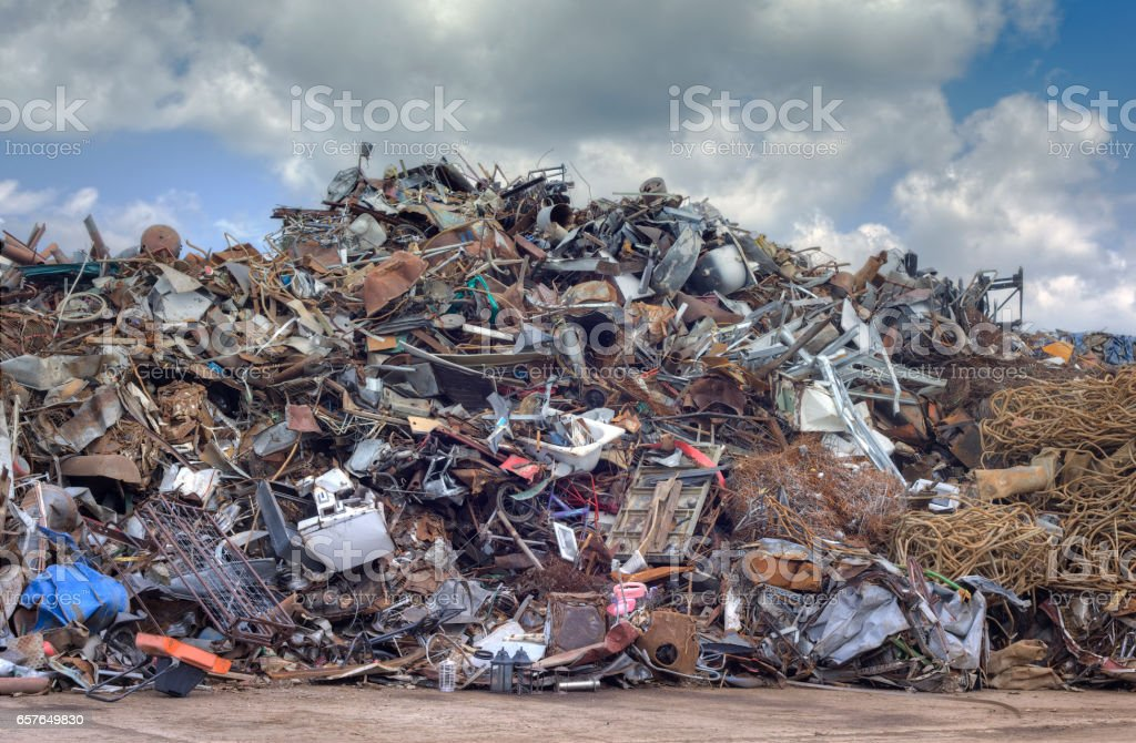 Metal Scrap Recycling stock photo
