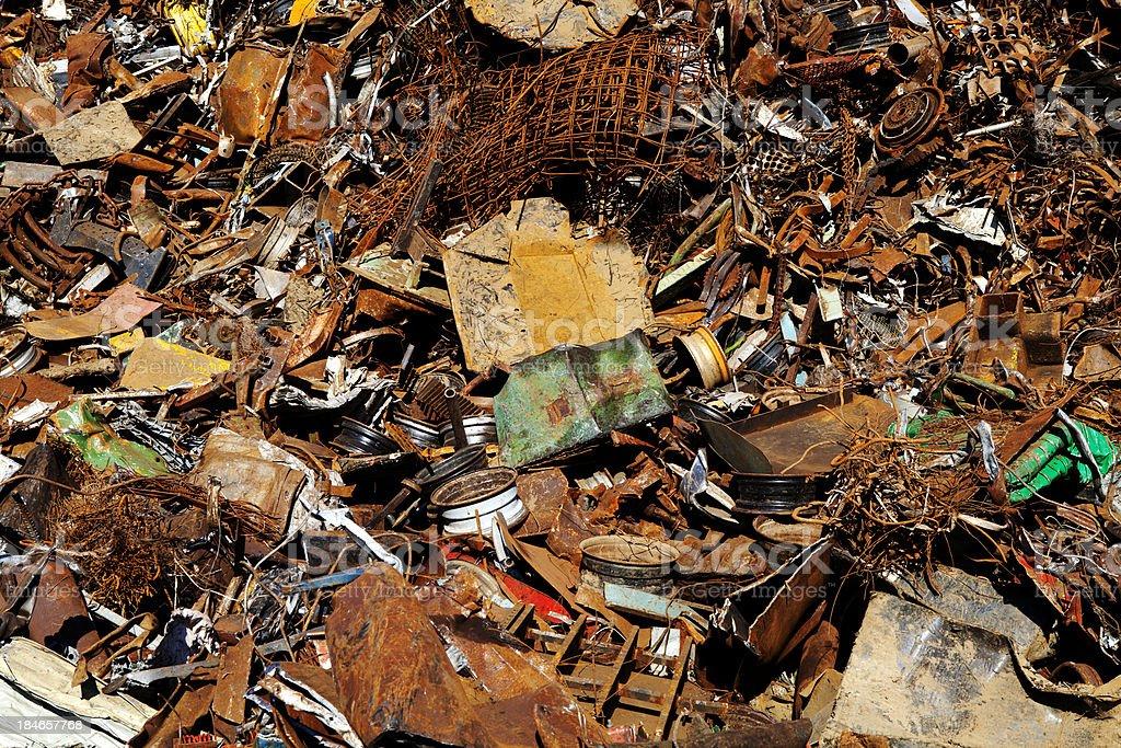 Metal scrap texture royalty-free stock photo