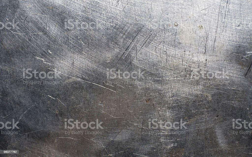 Metal scratched surface with lines royalty-free stock photo