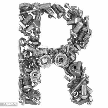 Metal Screw And Gear Letter R Stock Photo Amp More Pictures