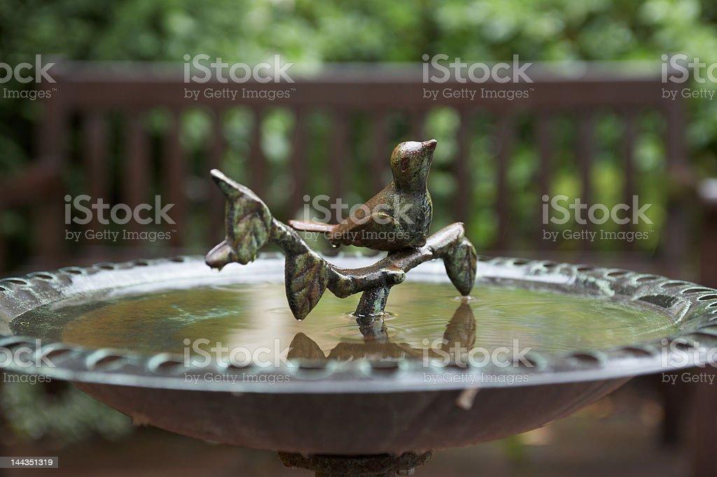 Metal sculpture of a bird royalty-free stock photo