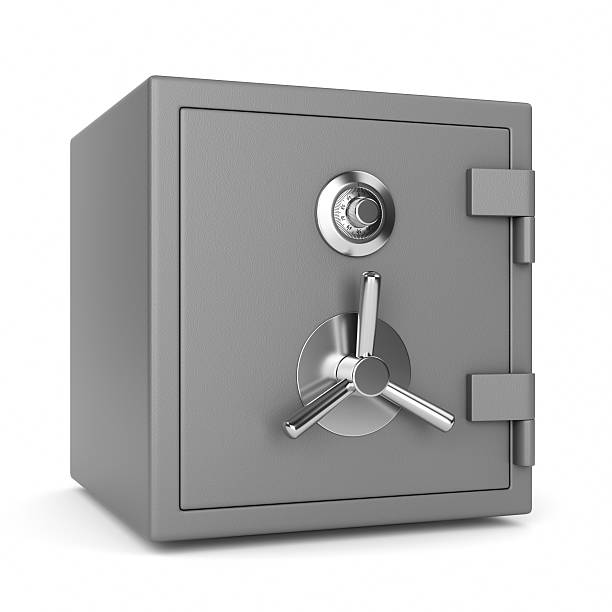metal security safe - safe stock photos and pictures