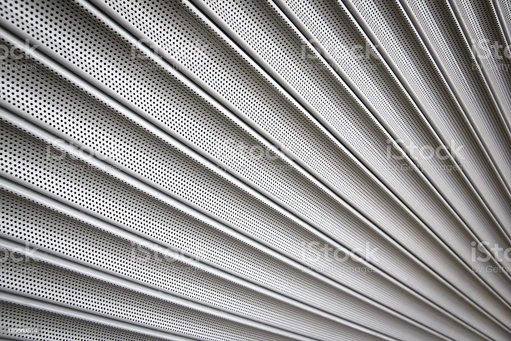 metal security shutters background stock photo