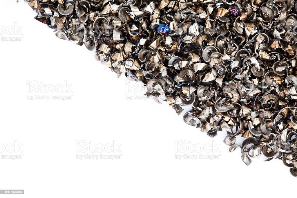 Metal Shavings. - Royalty-free CNC Machine Stock Photo