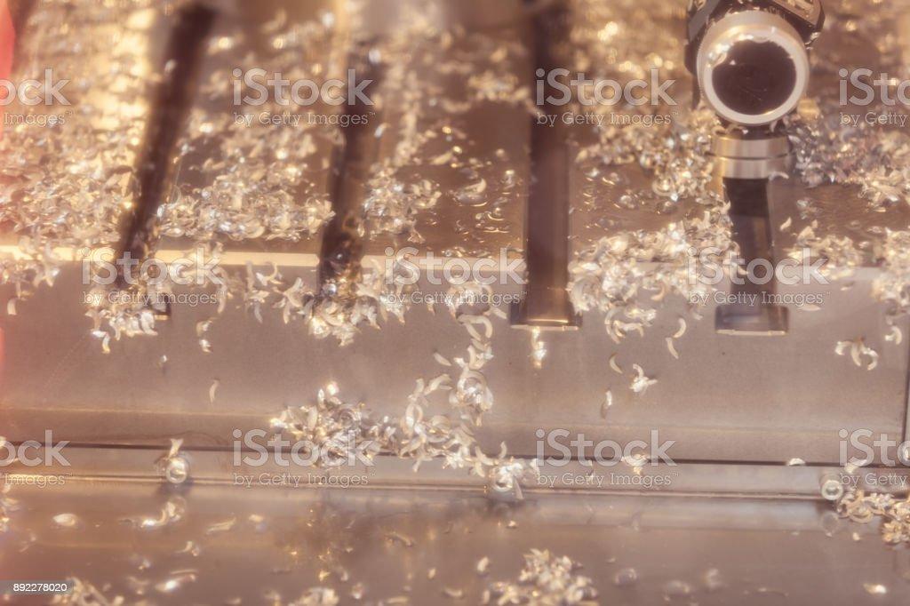 Metal shavings stock photo
