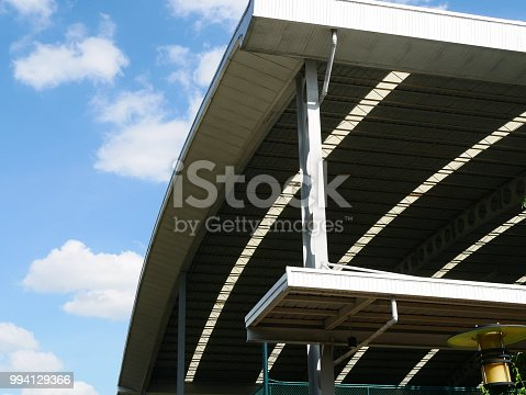 Roof, Warehouse, Steel, Metal, Stadium, Built Structure