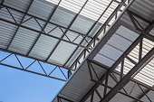metal sheet roof light frame structure for large building