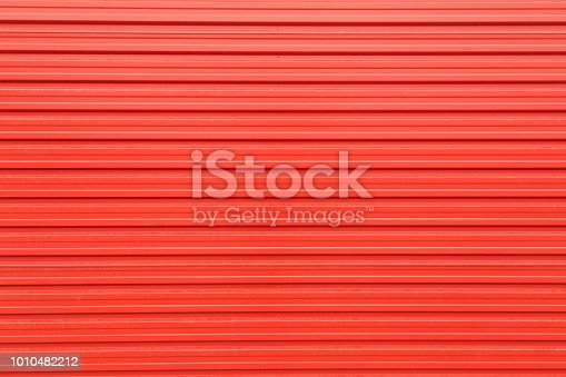 istock Metal sheet texture in red color 1010482212