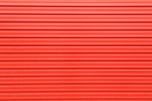 Metal sheet texture in red color
