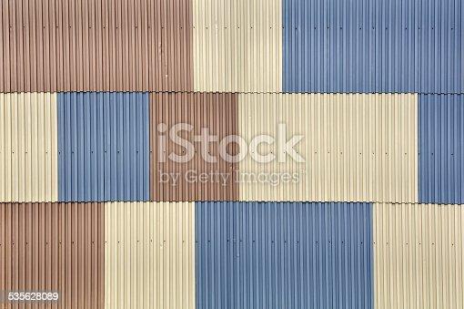 607593268istockphoto Metal sheet wall 535628089
