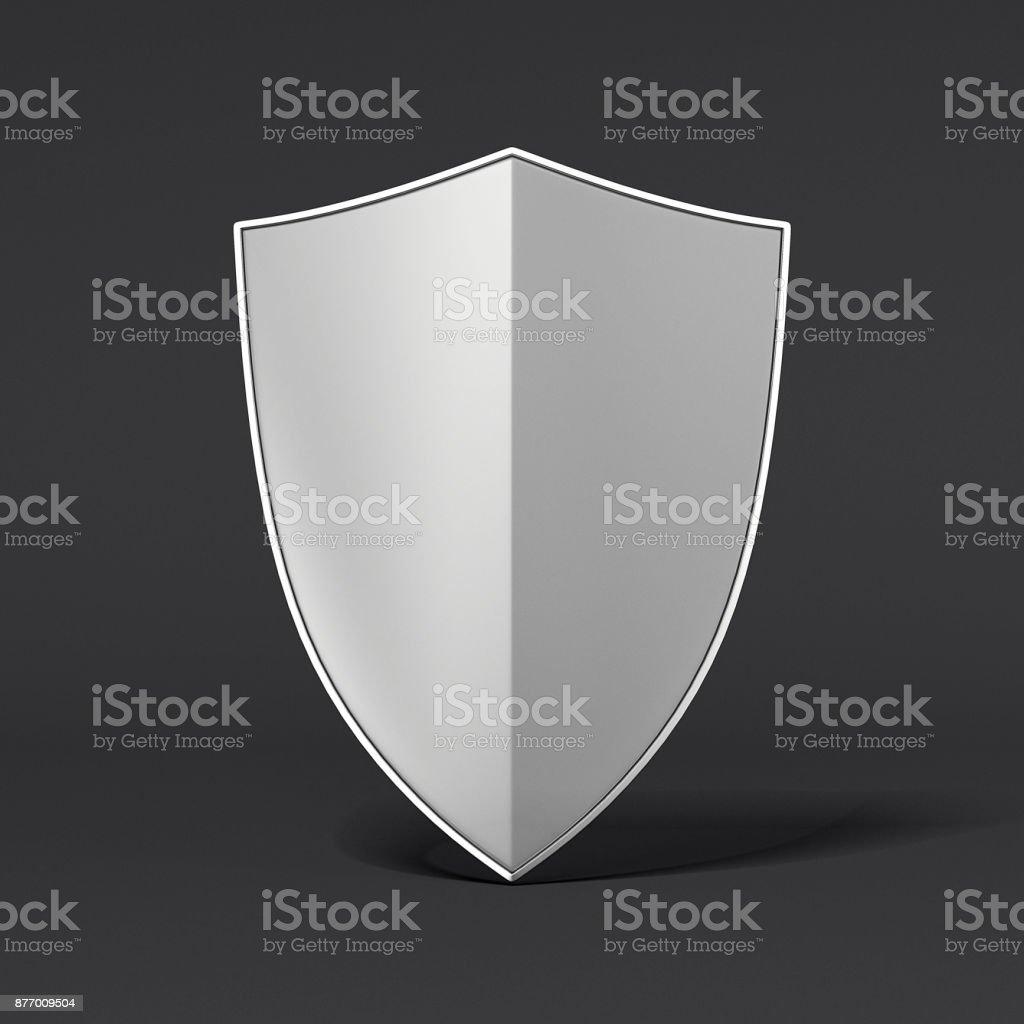 Metal shield. 3d rendering stock photo