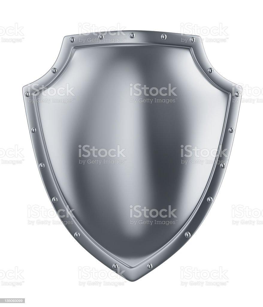 metal shield royalty-free stock photo