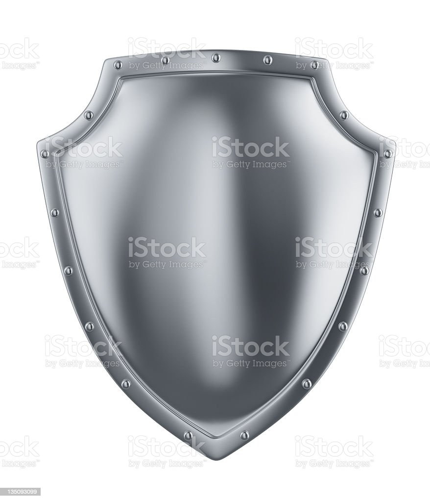 metal shield stock photo