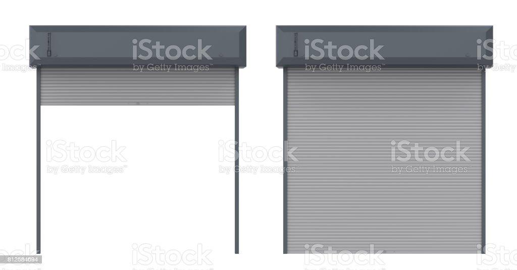 metal shutter door stock photo