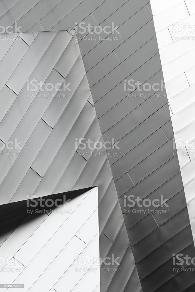 Metal Siding Angles Building Facade Abstract stock photo
