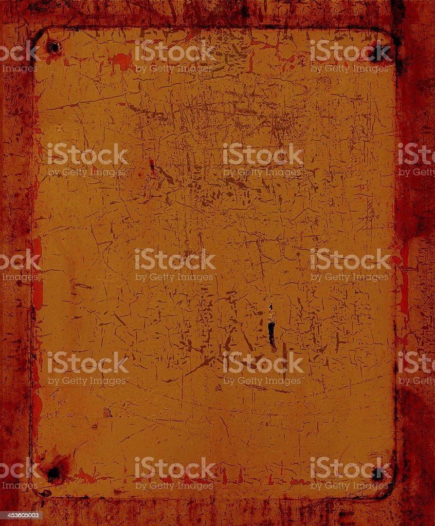 Metal sign. stock photo